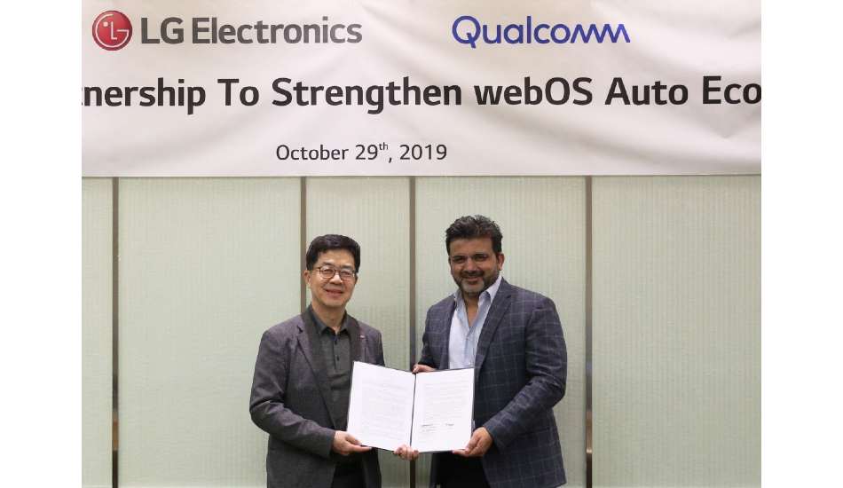 LG, Qualcomm team up to develop webOS Auto connected in-vehicle infotainment system