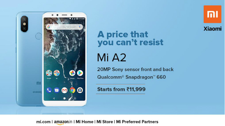 Xiaomi Mi A2 receives yet another price cut in India