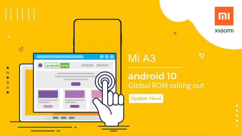 Xiaomi Mi A3 Android 10 update starts rolling out in India