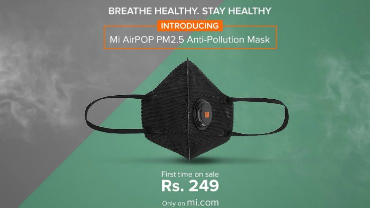 Xiaomi Mi AirPOP PM.25 Anti-Pollution Mask launched in India for Rs 249