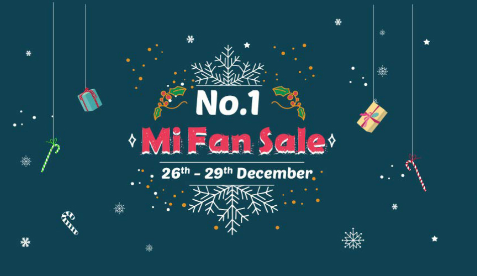 Amazon is hosting Xiaomi No. 1 Mi Fan Sale from December 26 to 28