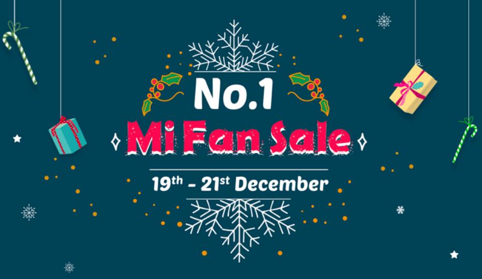 Xiaomi will be hosting No. 1 Mi Fan Sale during December 19 - 21