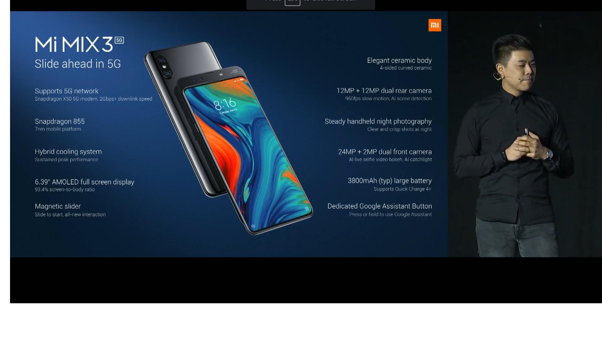 MWC 2019: Xiaomi Mi MIX 3 5G smartphone, Mi 9 global variant introduced
