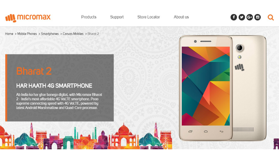 Vodafone partners with Micromax to launch Bharat 2 Ultra 4G smartphone at Rs 999