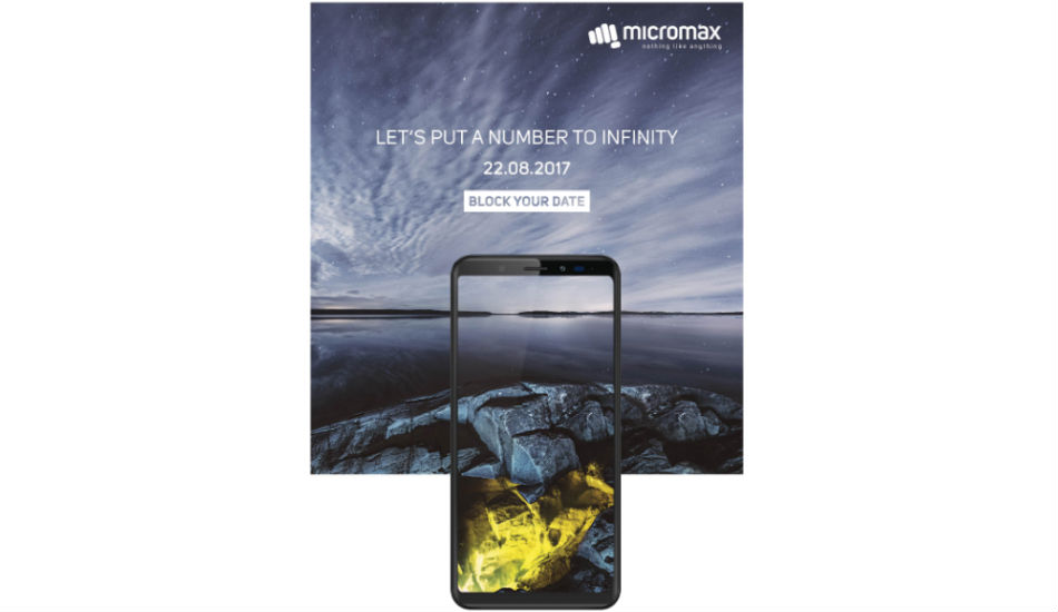 Micromax Canvas Infinity with 18:9 aspect ratio set to launch on August 22