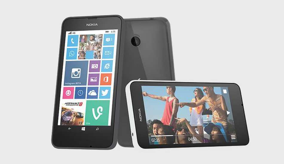 Microsoft Lumia 638 launched for Rs 8,299; becomes the cheapest Windows 4G smartphone