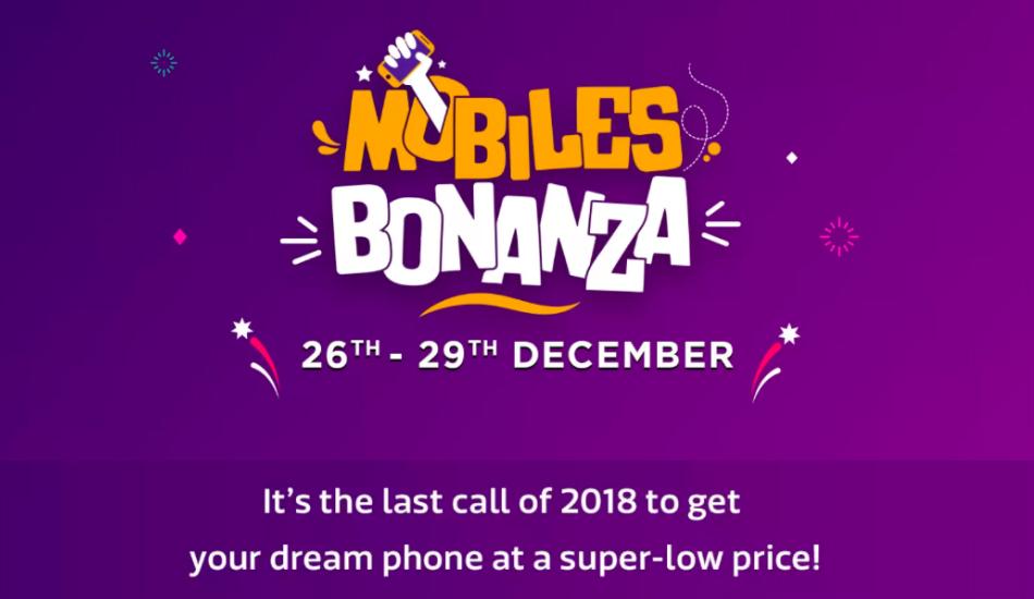 "Flipkart is hosting the year-end ""Mobiles Bonanza"" Sale on December 26 -29"