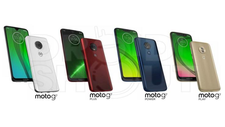 Moto G7 series press renders surfaced online