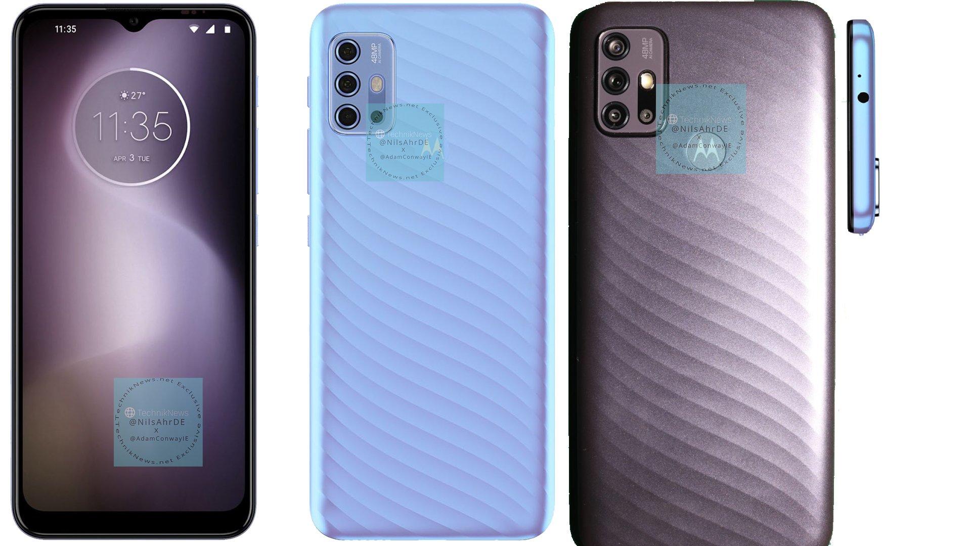 Motorola G10, G30, G40, E7 Power key specifications, renders leaked
