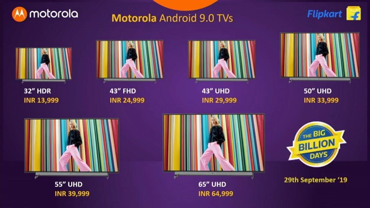Motorola Smart TV with up to 4K display, 30W speaker and Android 9.0 Pie launched in India