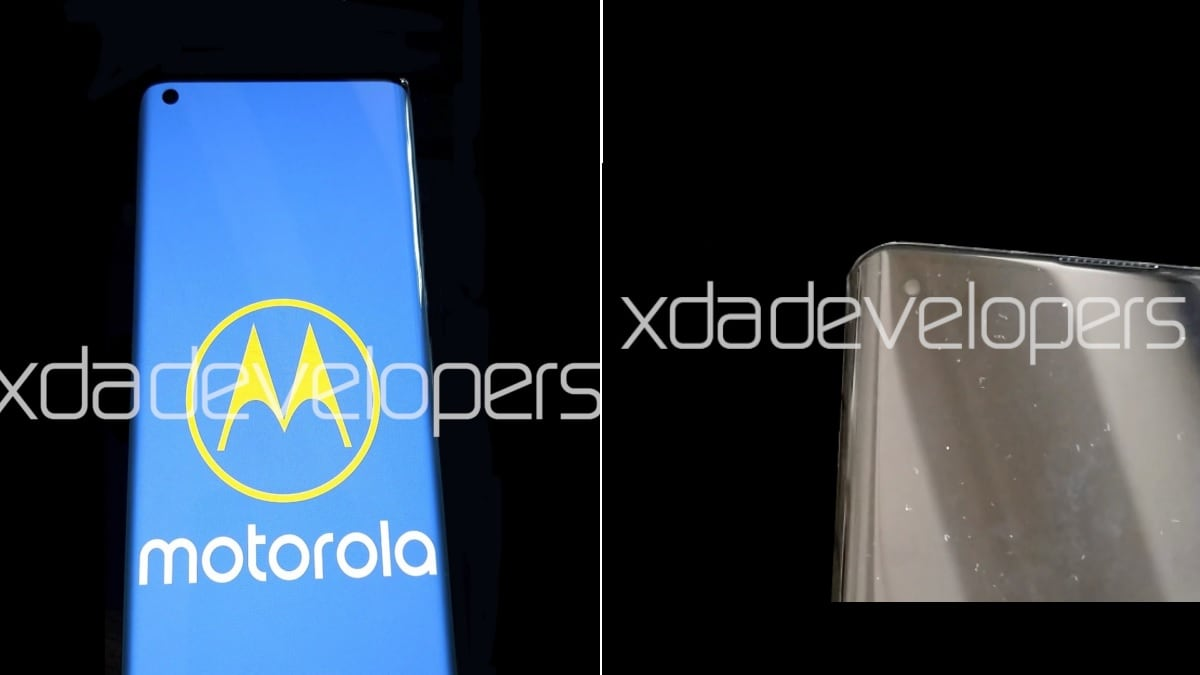 Motorola Edge+ leaked live images show curved punch-hole display