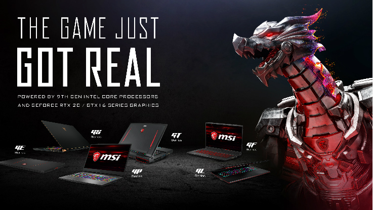 MSI introduces new lineup of gaming laptops with 9th generation of Intel Core processors in India