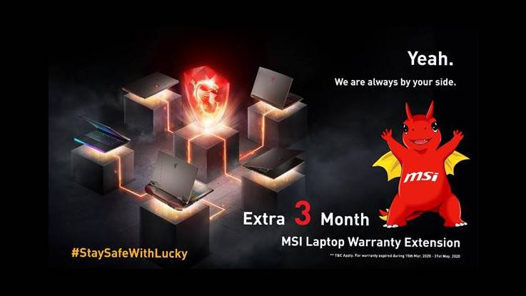 MSI extends warranty on its range of laptops amid Coronavirus lockdown