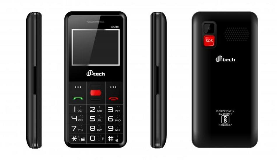 M-tech launches its first senior friendly phone: Sathi at Rs 1299