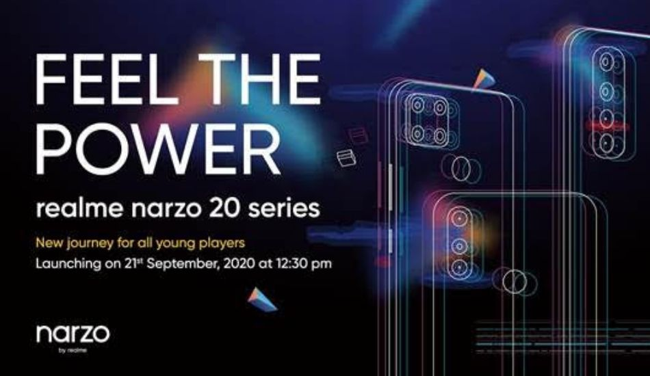 Realme Narzo 20 series launching in India on September 21