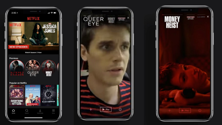 Netflix brings 'Previews' to Android and iOS apps
