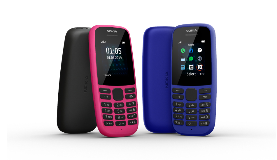 Nokia 105 Dual SIM feature phone with 18-day battery launched in India for Rs 1,199