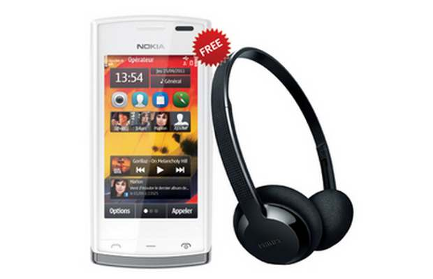 Get Philips headphone with Nokia 500 for free