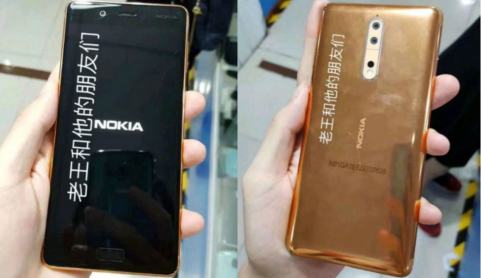 Nokia 8 leaked live images reveal copper colour, dual-camera setup