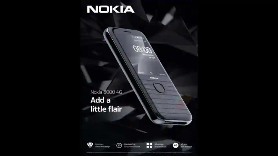 Nokia 8000 4G key specs and design revealed via leaked poster