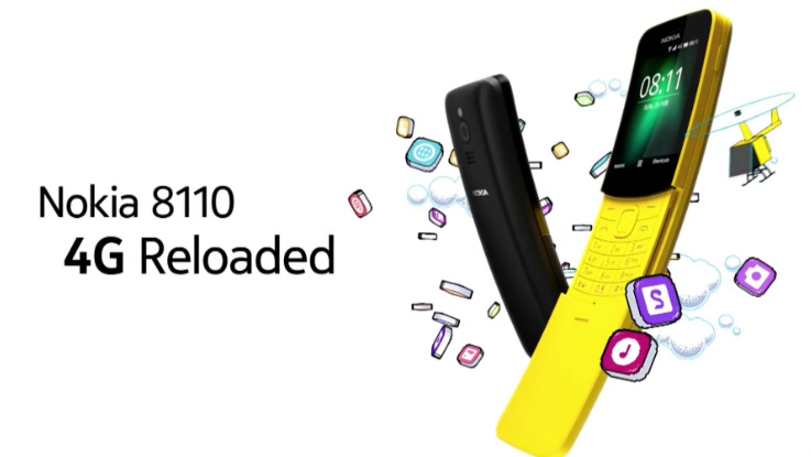Nokia 8110 4G feature phone update brings WhatsApp and Facebook support