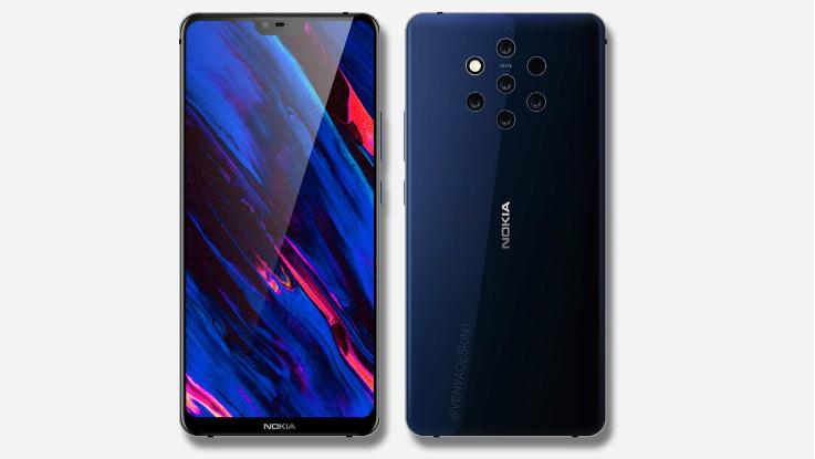 Nokia 9 with Penta-lens camera leaked in press render, live