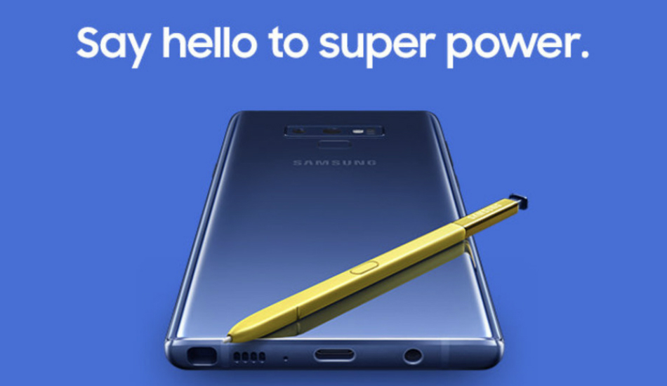 Samsung Galaxy Note 9 pre-order starts at Rs 67,900 in India