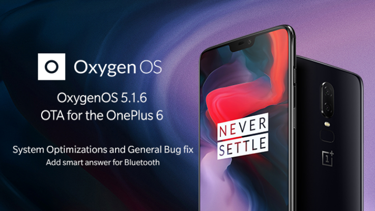 OnePlus 6 OxygenOS 5.1.6 update brings portrait mode for selfies, dual 4G support and more