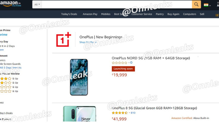 OnePlus Nord pricing leaked ahead of today's launch
