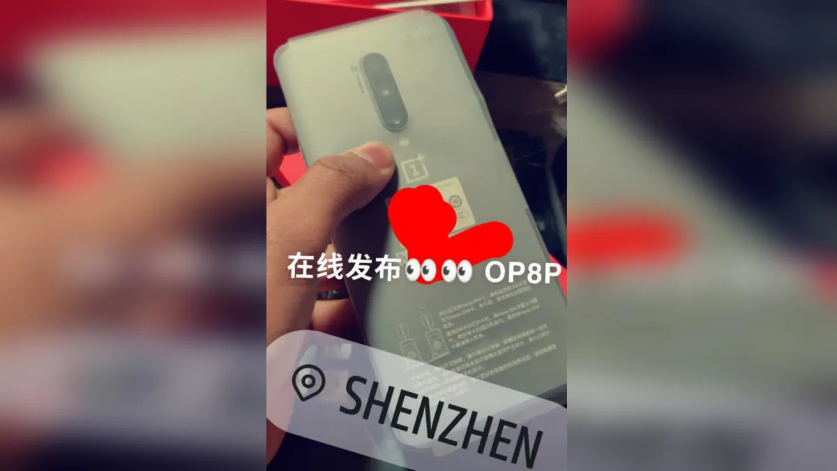 OnePlus 8 Pro leaked hands-on picture show quad rear cameras