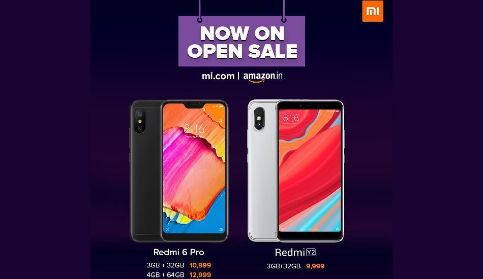 Xiaomi Redmi 6 Pro, Redmi Y2 and Poco F1 are now available on open sale in India