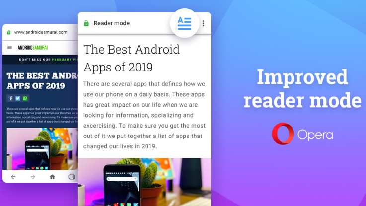 Opera adds improved reader mode to its Android browser