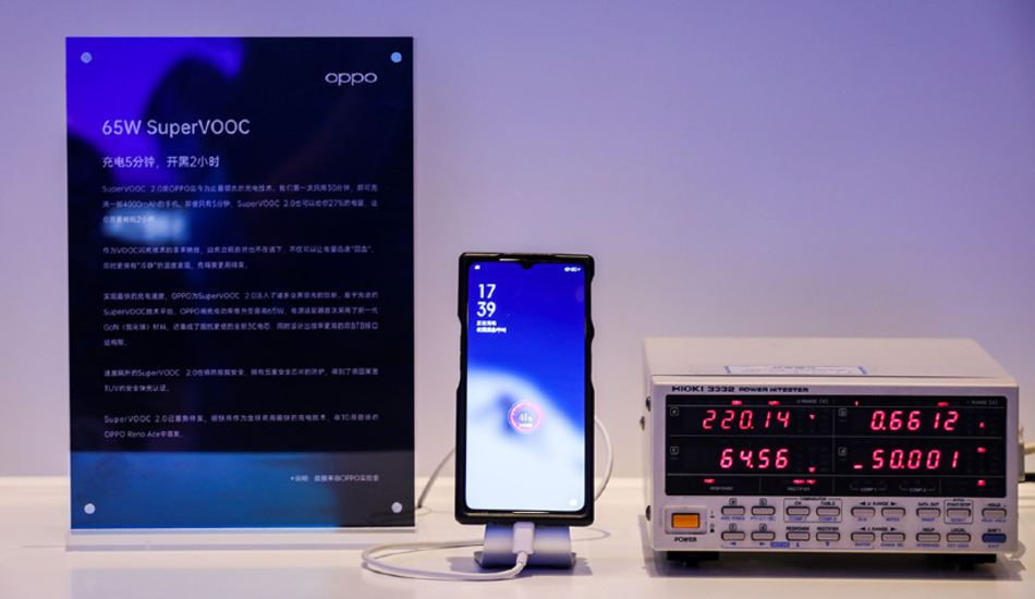 Oppo launches 65W SuperVOOC 2.0, 30W VOOC 4.0, 30W Wireless VOOC Flash Charge technologies