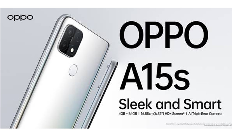 Oppo A15s launched in India for Rs 11,490