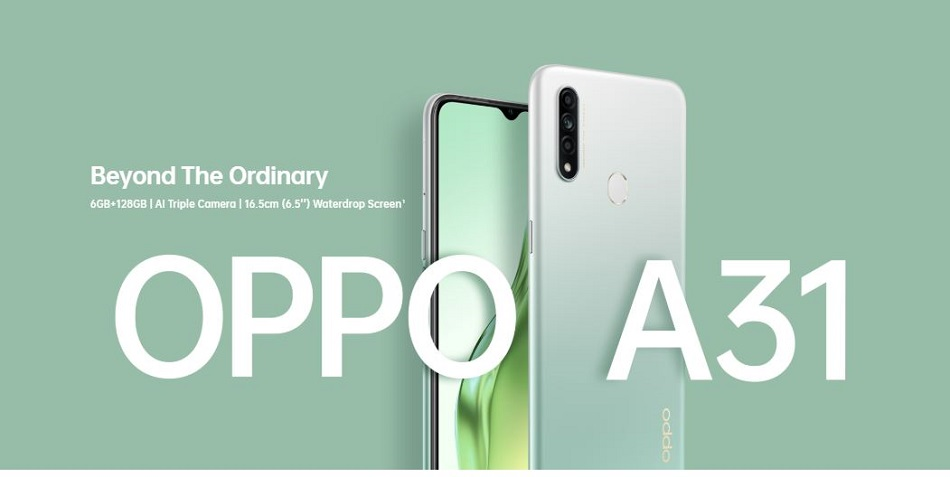 Oppo A31 with Triple rear camera setup, 6GB RAM launched in India