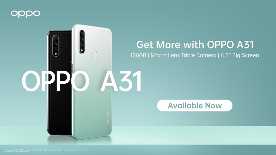 Oppo A31 with Triple rear camera setup, 6.5-inch display launched