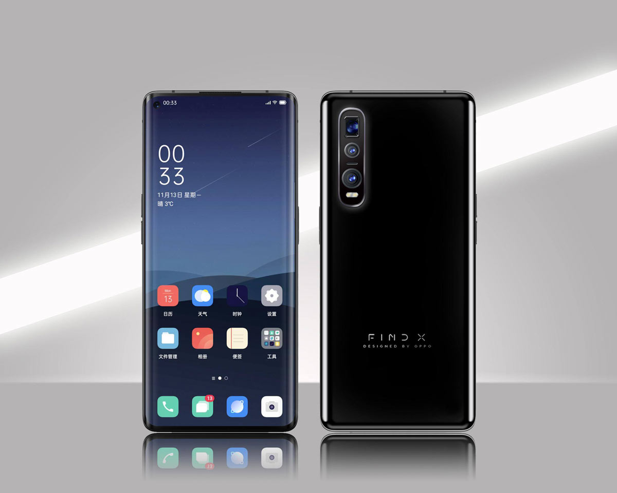 Leaked Oppo Find X2 render shows a punch-hole display design