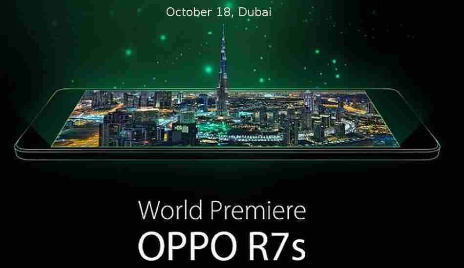 Oppo R7s to be unveiled on October 18th