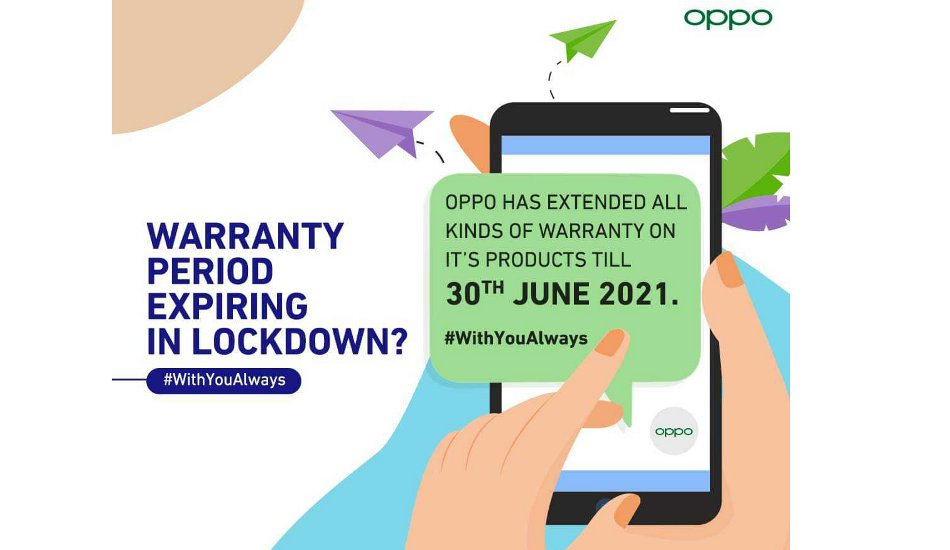 Oppo extends product service warranty until 30th June