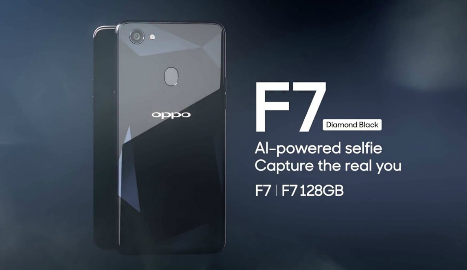 Oppo F7 Diamond Black Edition with 6GB RAM, 128GB storage unveiled in India