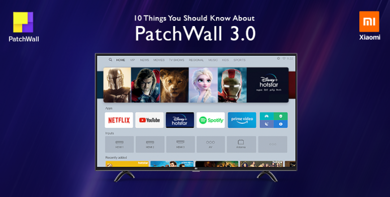 Xiaomi starts rolling out PatchWall 3.0 to Mi TVs in India with enhanced UI