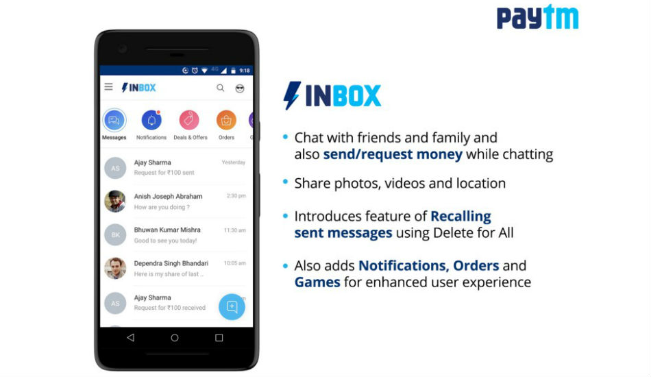 Paytm launches Inbox: May not be able to take on WhatsApp