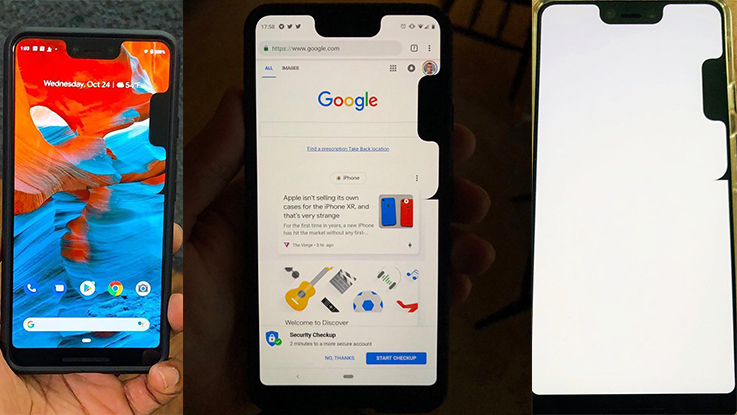 Google Pixel 3 XL bug adds a second notch on the side of display