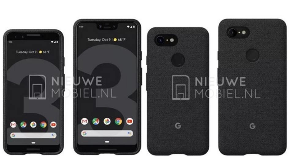 Google Pixel 3 and Pixel 3 XL renders leaked