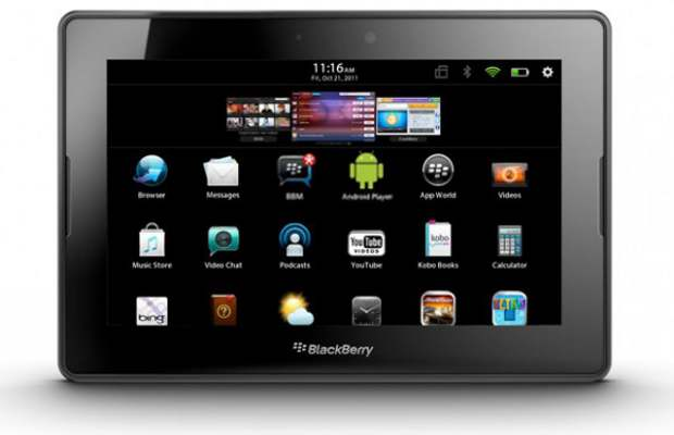 Blackberry PlayBook with native BBM app spotted
