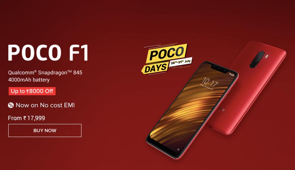 Poco Days Sale live on Mi.com, up to Rs 8,000 discount on Poco F1