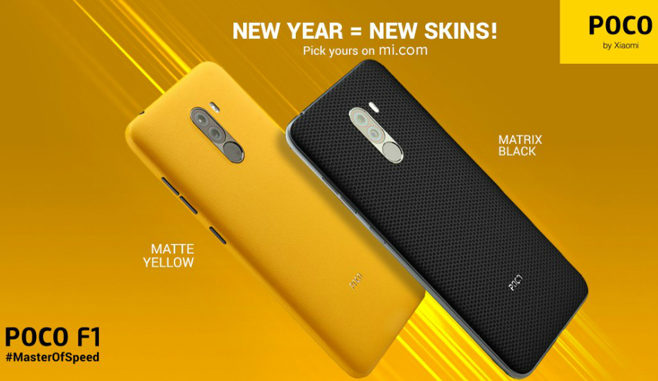 Xiaomi releases two new skins for Poco F1 in India