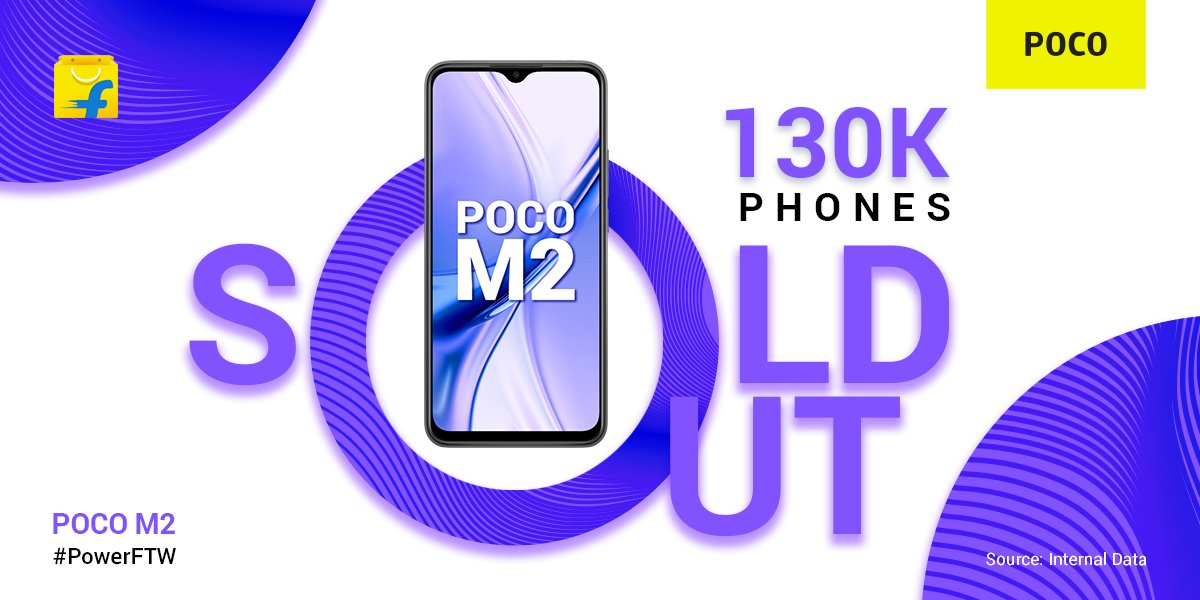 Over 130,000 units of Poco M2 sold in first sale