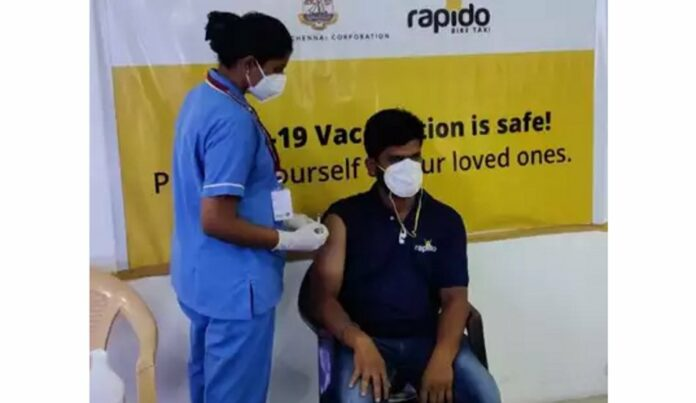 Rapido vaccinates Captains (Driver Partners) in Chennai