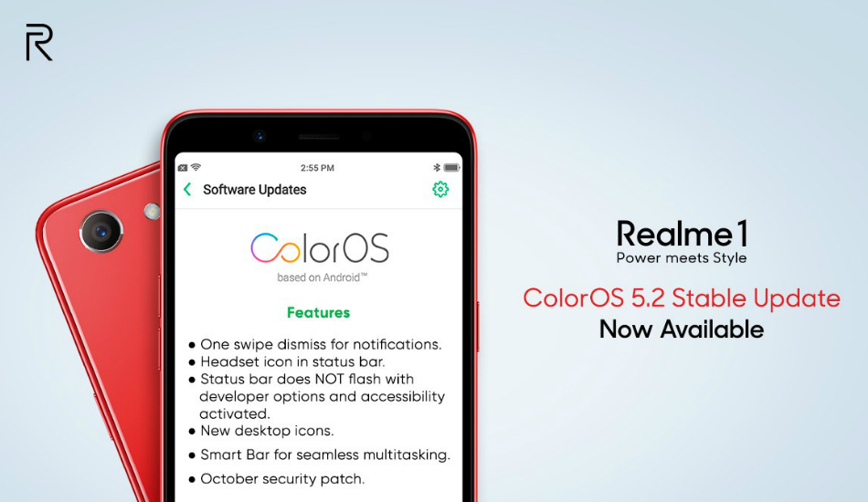 Realme 1 users are now receiving ColorOS 5.2 update